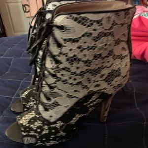 Pretty lace booties